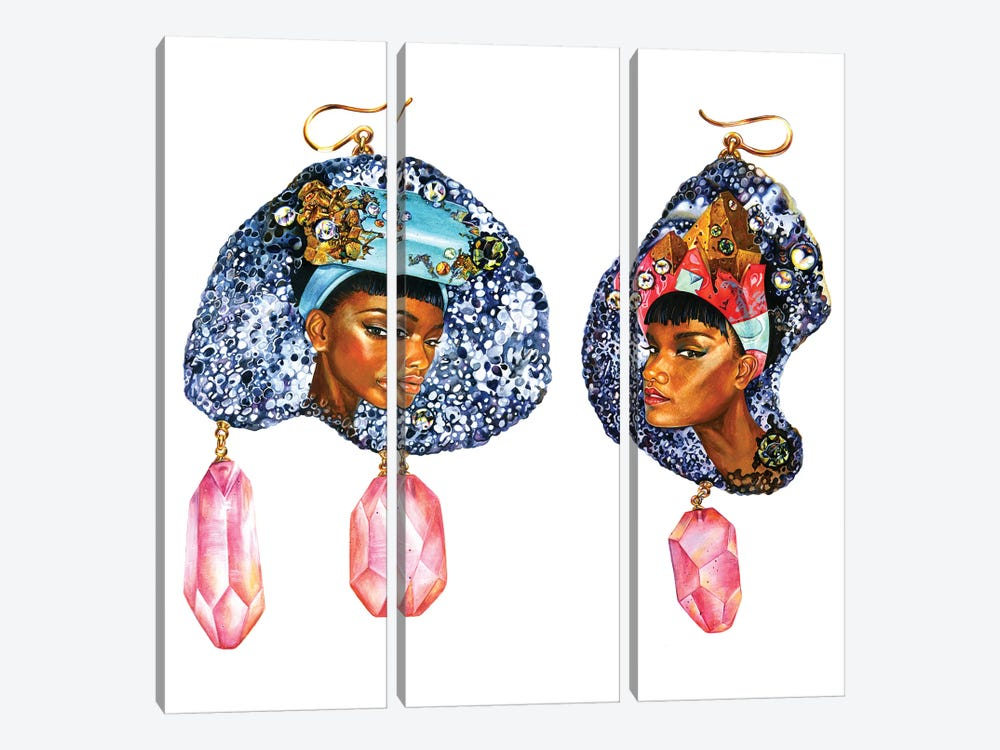 Gemmed Twins by Sunny Gu 3-piece Canvas Print