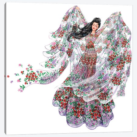 Giamba Flowerwind Canvas Print #SUN16} by Sunny Gu Canvas Wall Art
