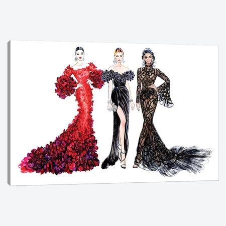 Girls Glamour Canvas Print #SUN17} by Sunny Gu Canvas Art