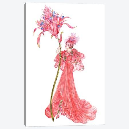 Aechmea Fasciata, Monique Lhuillier Canvas Print #SUN1} by Sunny Gu Art Print