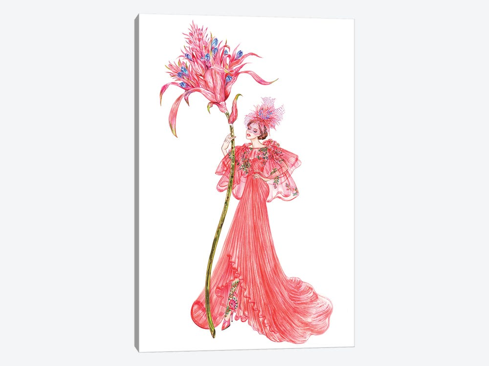 Aechmea Fasciata, Monique Lhuillier by Sunny Gu 1-piece Canvas Print