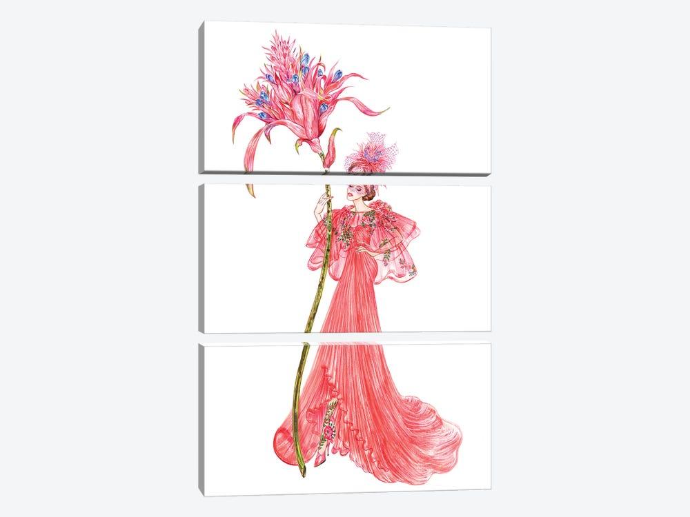 Aechmea Fasciata, Monique Lhuillier by Sunny Gu 3-piece Canvas Art Print