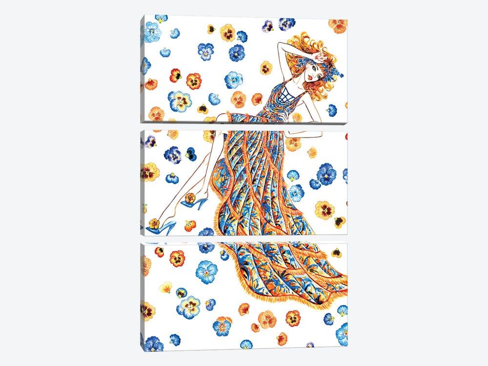 Let Me Dream II, Versace by Sunny Gu 3-piece Canvas Print