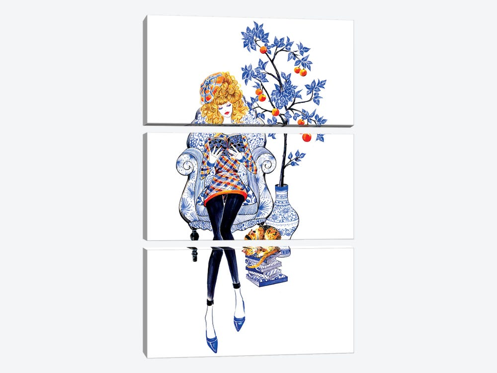 Lifestyle, Junya Watanabe by Sunny Gu 3-piece Canvas Art Print