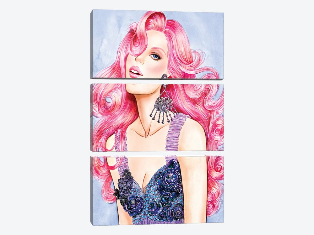 Pink RODARTE by Sunny Gu 3-piece Canvas Artwork