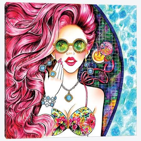 Poolside Pink Canvas Print #SUN36} by Sunny Gu Canvas Artwork
