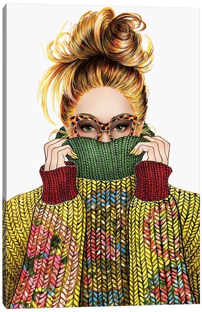 Sweater Season Canvas Art Print