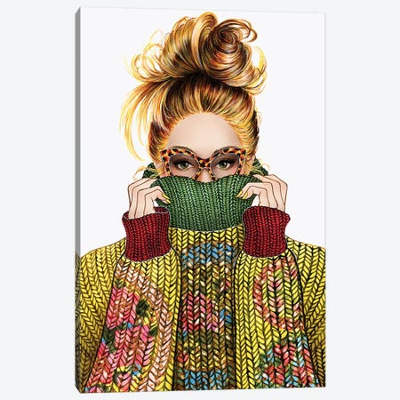 Sweater Season 3-Piece Canvas #SUN42} by Sunny Gu Canvas Art