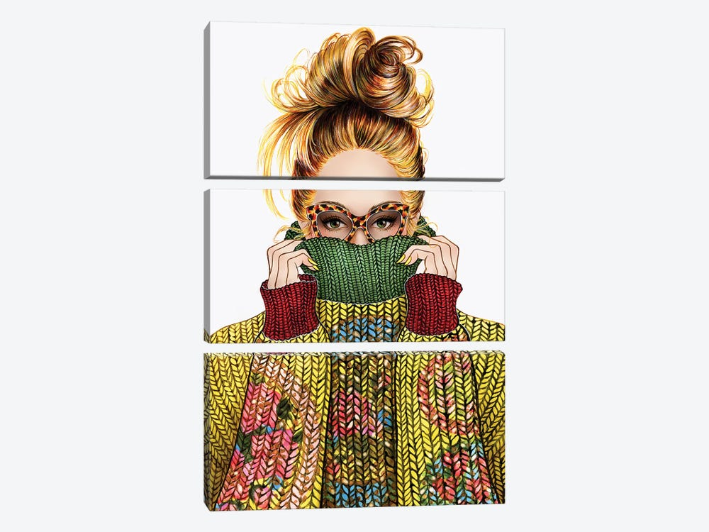 Sweater Season by Sunny Gu 3-piece Canvas Print
