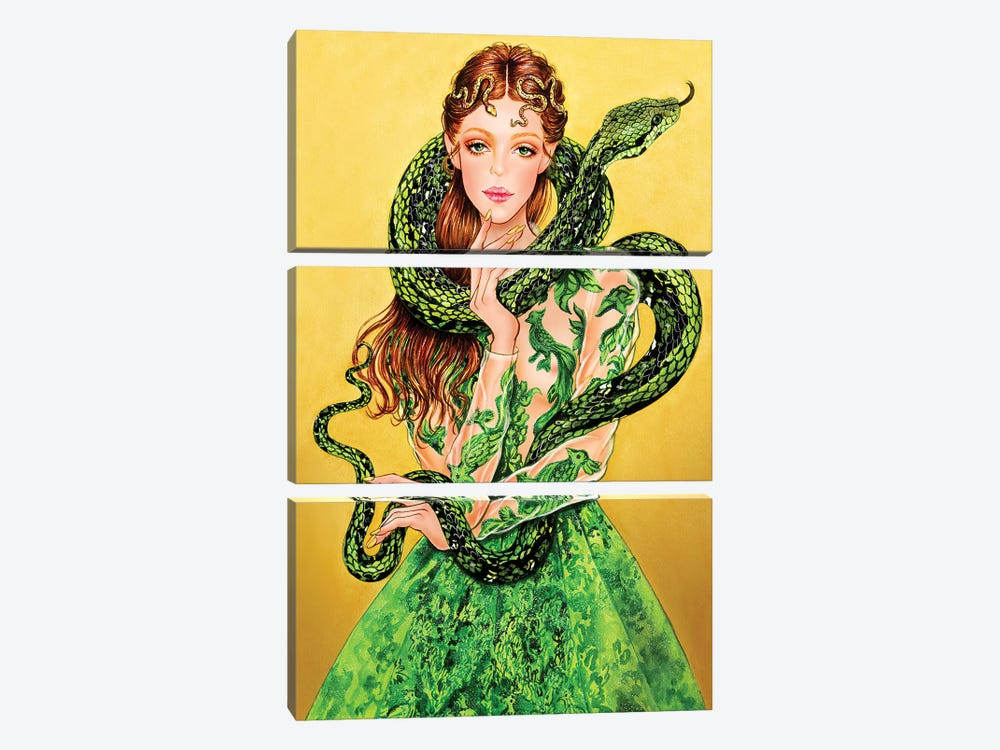 Valentino Serpent by Sunny Gu 3-piece Art Print