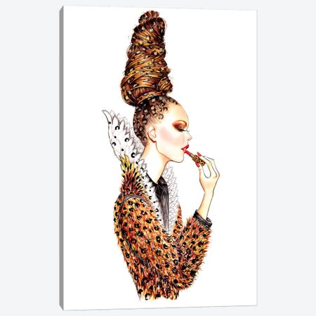 Leopard Hair Canvas Print #SUN50} by Sunny Gu Art Print