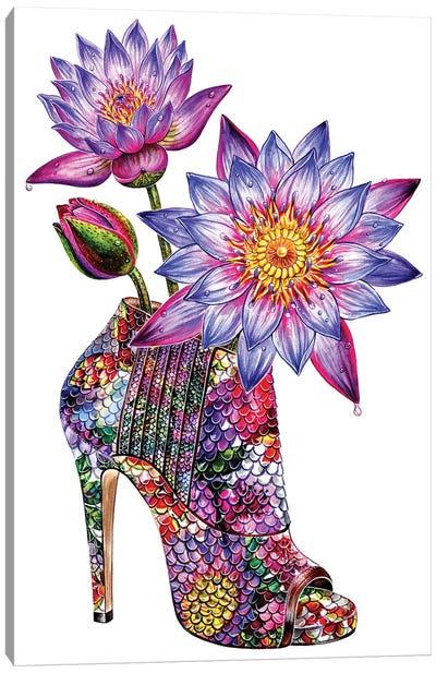 Lotus Shoes Canvas Art Print