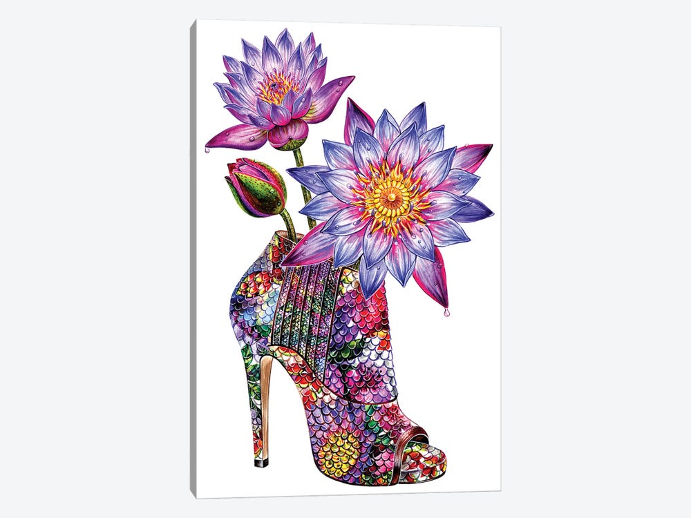 Lotus Shoes by Sunny Gu 1-piece Canvas Artwork
