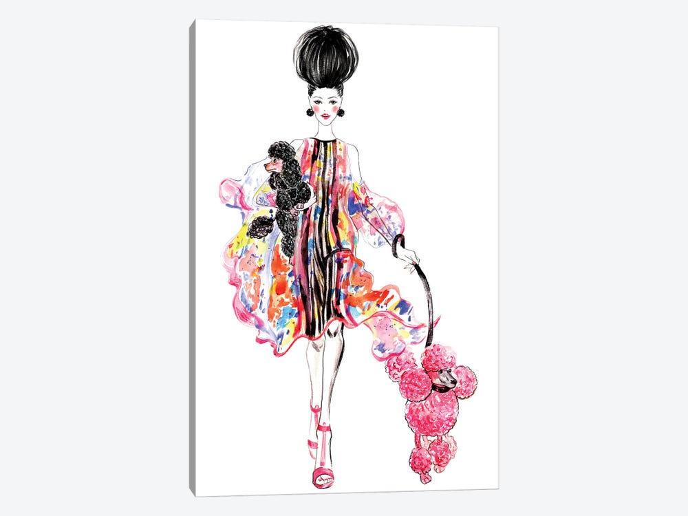 Poodles by Sunny Gu 1-piece Canvas Wall Art