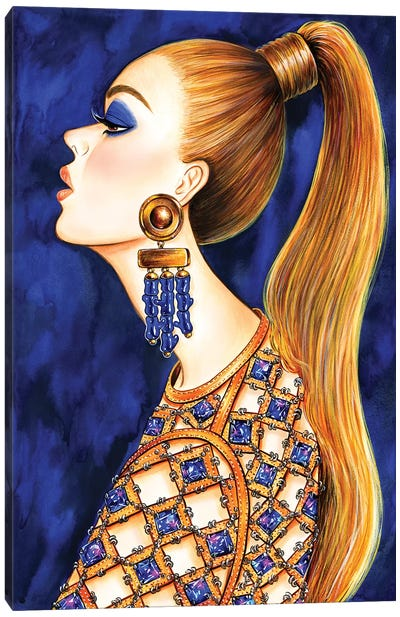 Power Ponytail Canvas Art Print