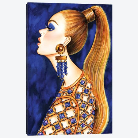 Power Ponytail Canvas Print #SUN55} by Sunny Gu Canvas Wall Art