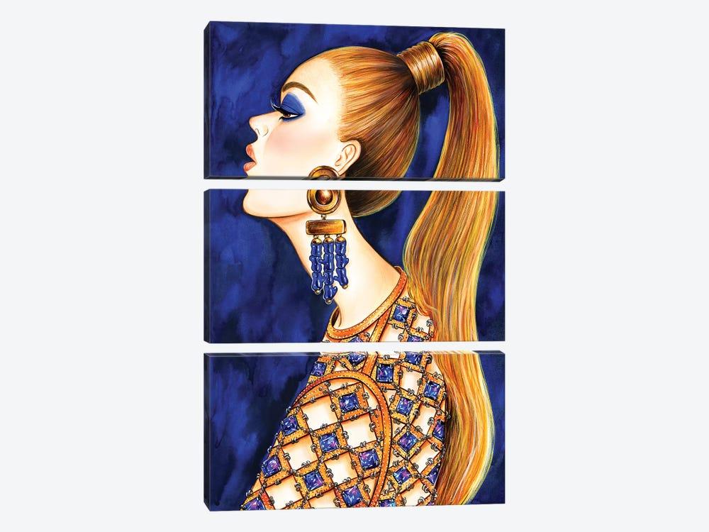Power Ponytail by Sunny Gu 3-piece Canvas Art Print