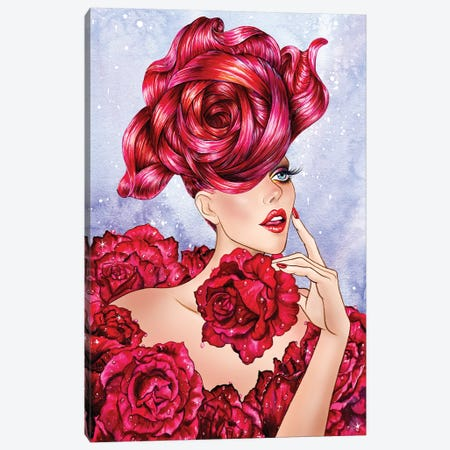 Rose Canvas Print #SUN57} by Sunny Gu Canvas Art