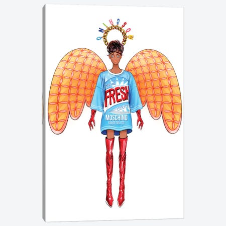 Lystmas Angel Moschino Canvas Print #SUN69} by Sunny Gu Canvas Art