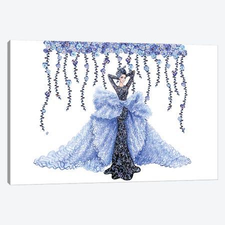 Pastel Blue bg Canvas Print #SUN73} by Sunny Gu Canvas Print