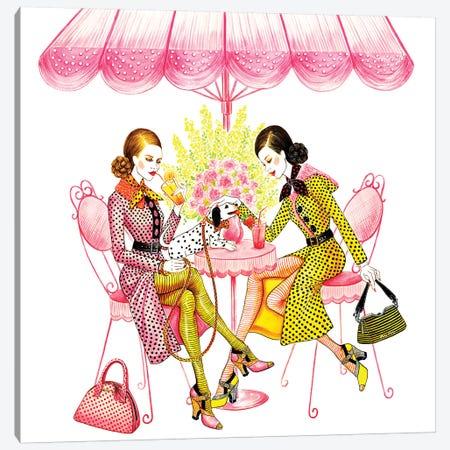 Afternoon Tea Canvas Print #SUN79} by Sunny Gu Art Print