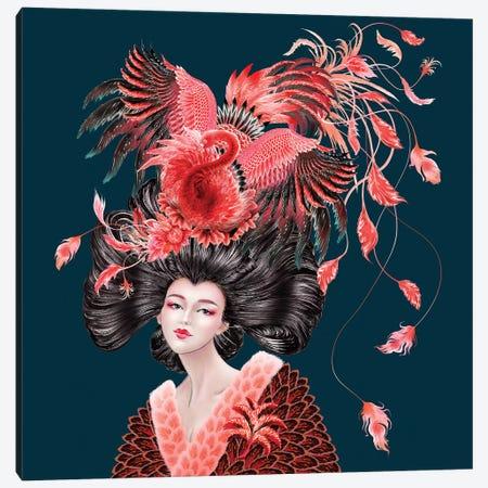 Flamingo Canvas Print #SUN82} by Sunny Gu Canvas Artwork