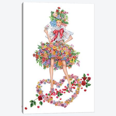 Floral Girl I Canvas Print #SUN84} by Sunny Gu Canvas Art Print