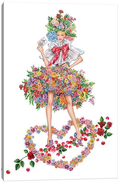 Floral Girl I Canvas Art Print