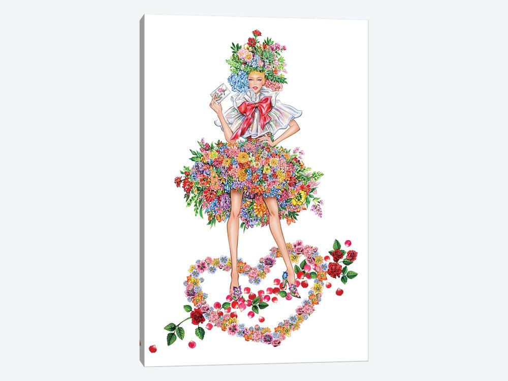 Floral Girl I by Sunny Gu 1-piece Canvas Print