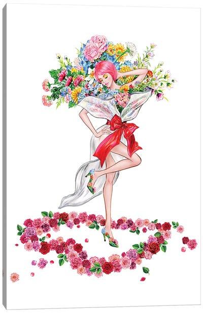 Floral Girl II Canvas Art Print