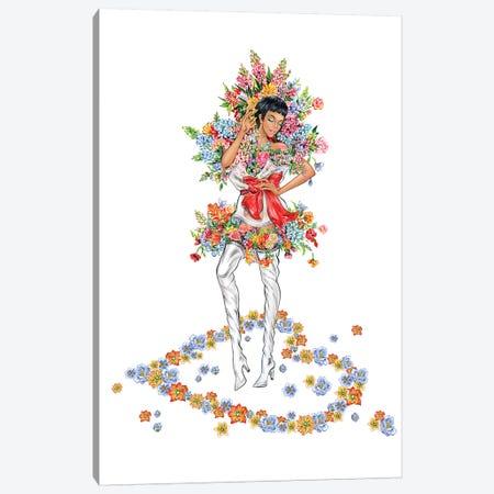 Floral Girl III Canvas Print #SUN86} by Sunny Gu Canvas Print