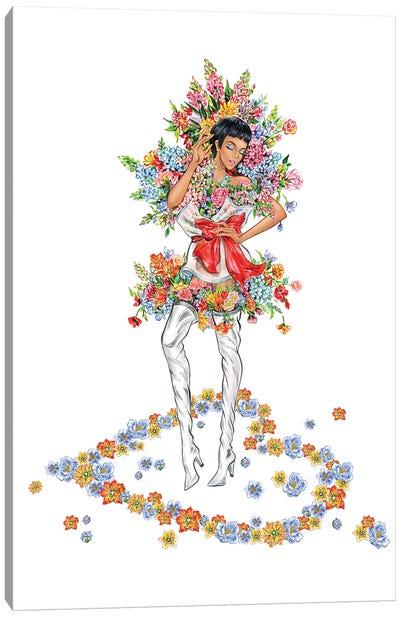 Floral Girl III Canvas Art Print