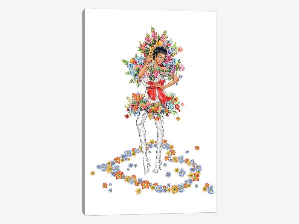 Floral Girl III by Sunny Gu 1-piece Canvas Art Print