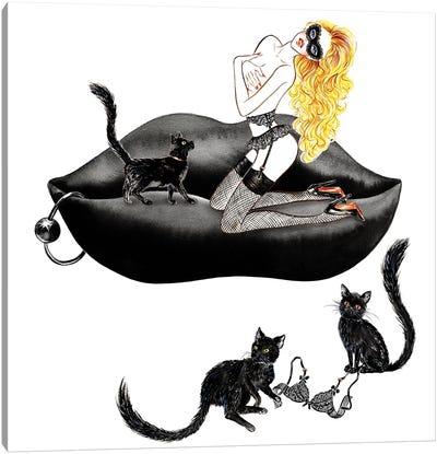 Lingerie Lover Black Canvas Art Print