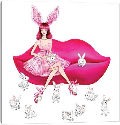 Lingerie Lover Pink Canvas Art Print