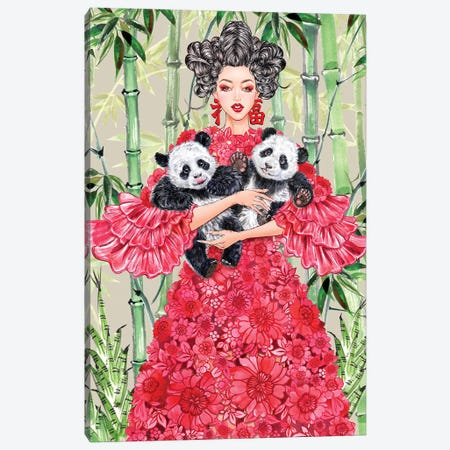 Valentino China Girl Canvas Print #SUN90} by Sunny Gu Canvas Art Print
