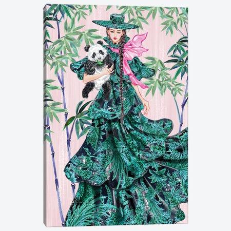 Green Hat Girl Canvas Print #SUN92} by Sunny Gu Art Print