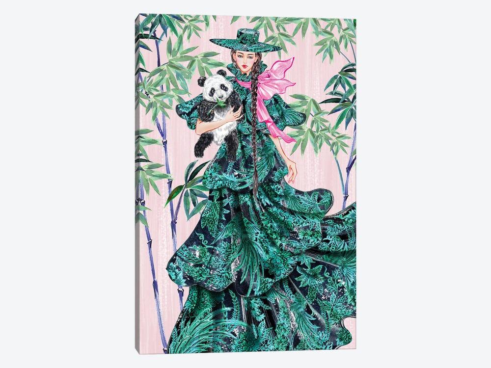 Green Hat Girl by Sunny Gu 1-piece Canvas Wall Art