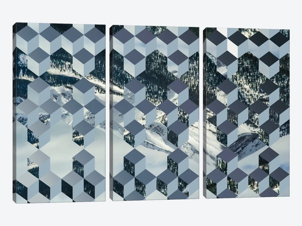 Still Winter by 5by5collective 3-piece Canvas Wall Art