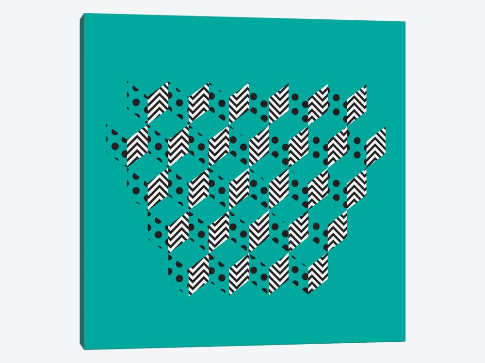 Unfolding Patterns by 5by5collective 1-piece Canvas Art Print
