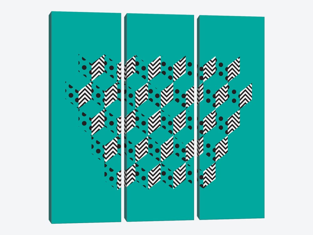 Unfolding Patterns by 5by5collective 3-piece Art Print