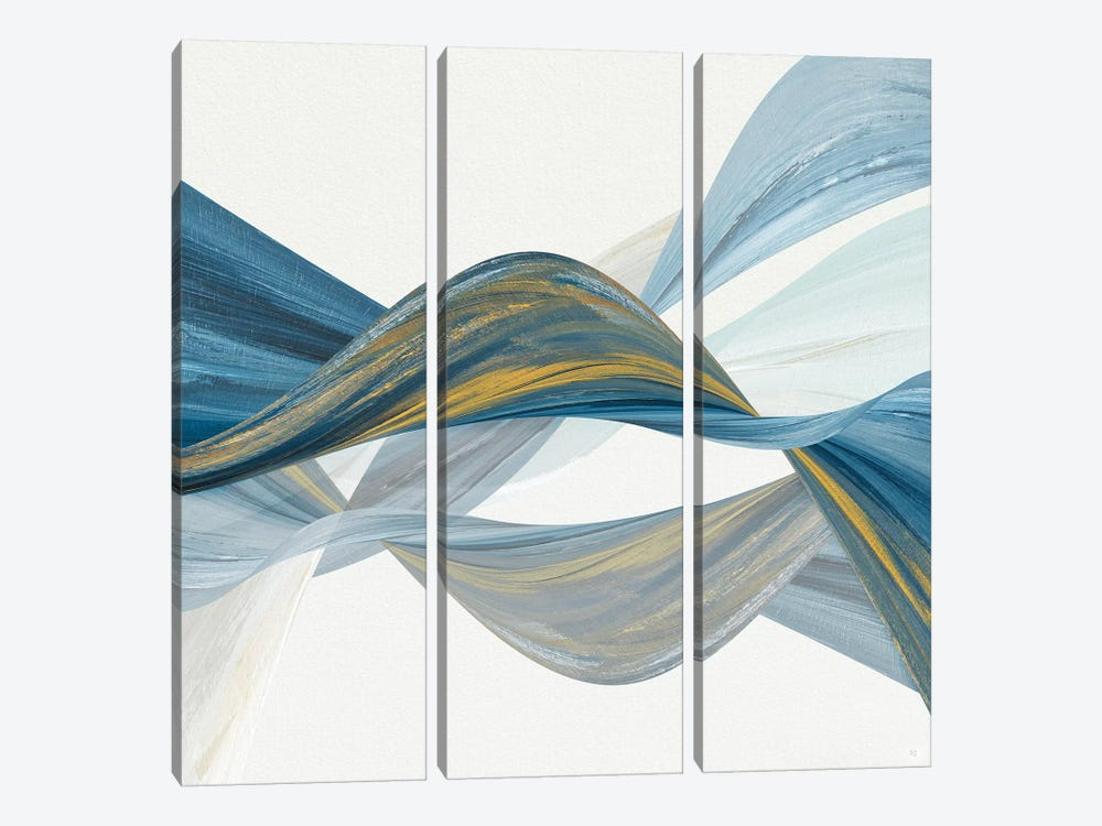 Changing Currents I by Susan Jill 3-piece Canvas Artwork
