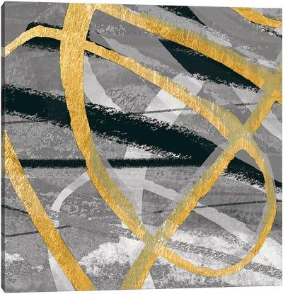 Grey Dance I Canvas Art Print