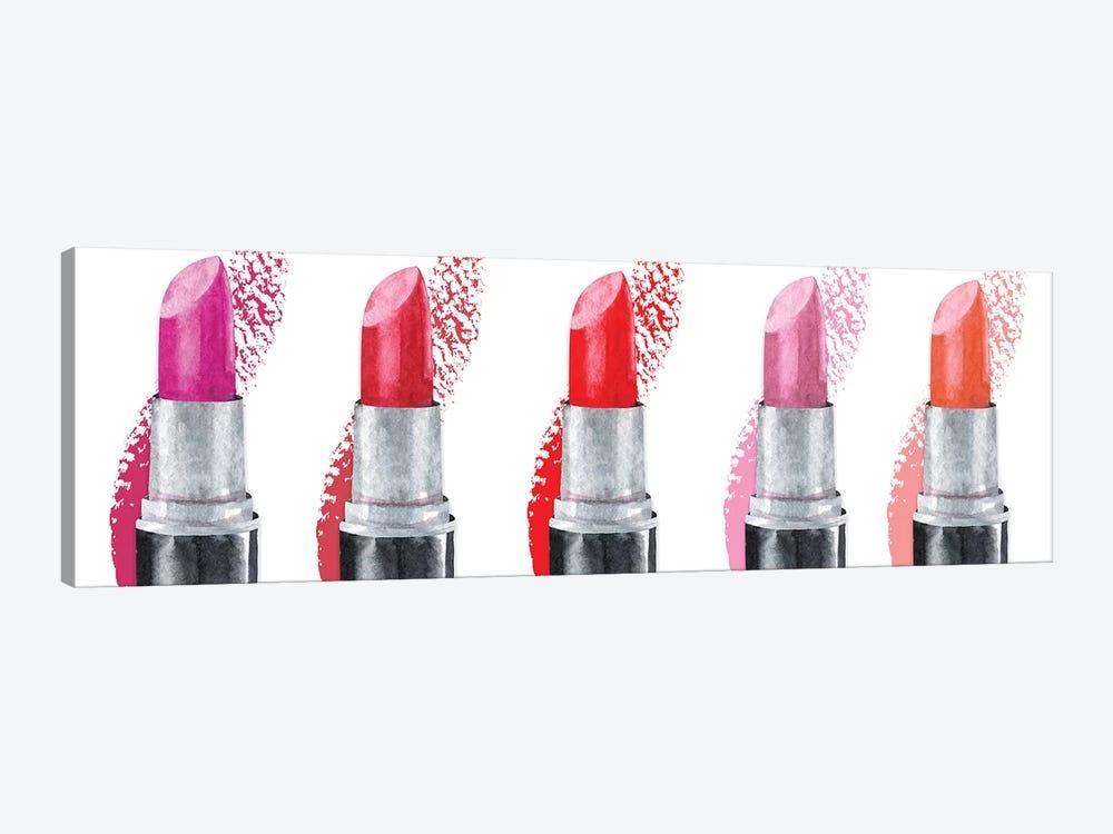 Lipstick Row by Susan Jill 1-piece Canvas Wall Art