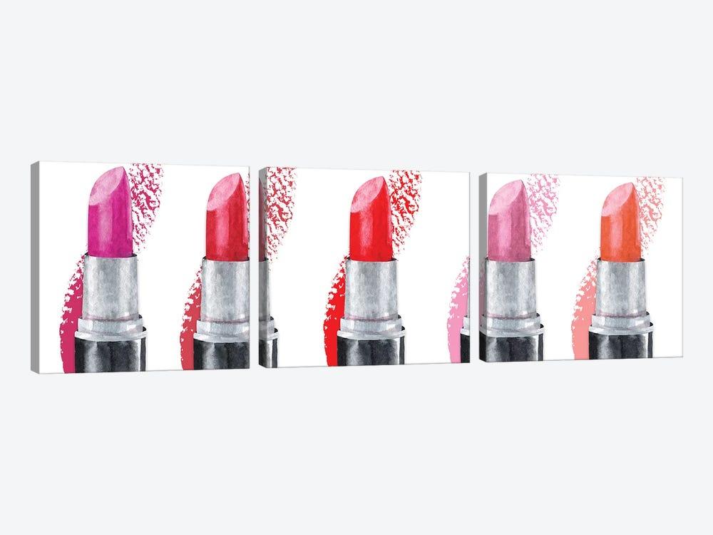 Lipstick Row by Susan Jill 3-piece Canvas Art