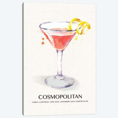Cosmopolitan Canvas Print #SUS152} by Susan Jill Art Print