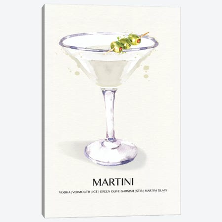 Martini Canvas Print #SUS154} by Susan Jill Canvas Artwork