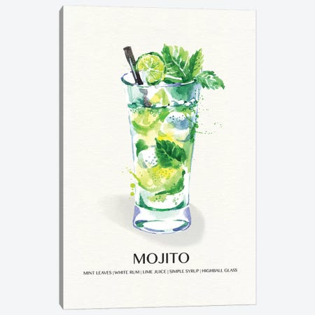 Mojito Canvas Print #SUS155} by Susan Jill Canvas Art