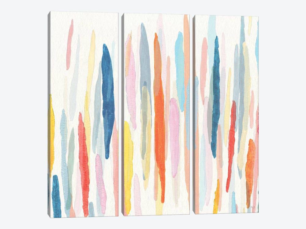 Rhythm and Color I by Susan Jill 3-piece Canvas Art Print