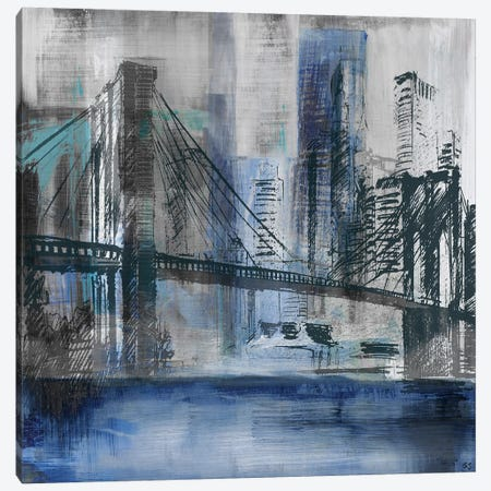 Brooklyn Bridge Canvas Print #SUS16} by Susan Jill Canvas Art Print
